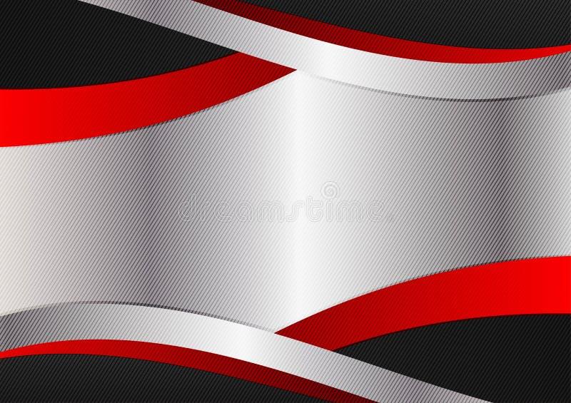 Projeto de gráficos vermelho e preto de prata da cor Fundo abstrato geométrico do vetor com espaço da cópia ilustração do vetor