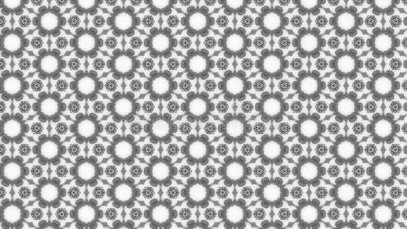 Projeto de Gray Geometric Ornament Background Pattern ilustração royalty free