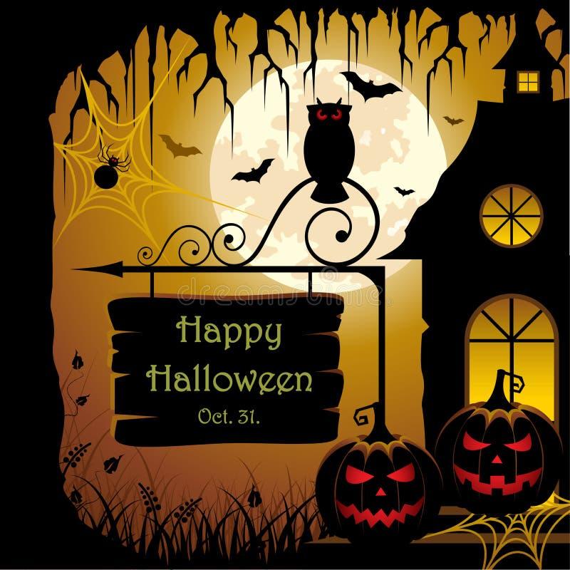 Projeto de Halloween ilustração do vetor