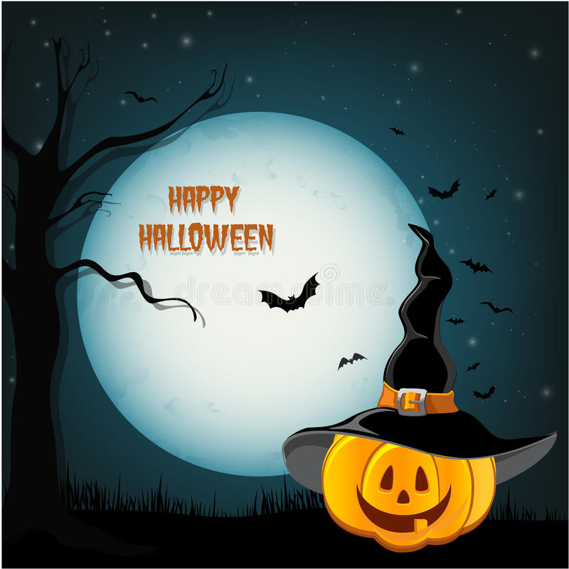 Projeto de Halloween - abóboras da floresta ilustração do vetor