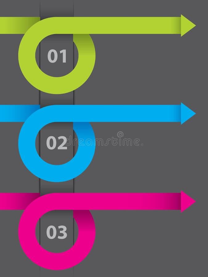 Projeto de Infographic no papel escuro ilustração royalty free