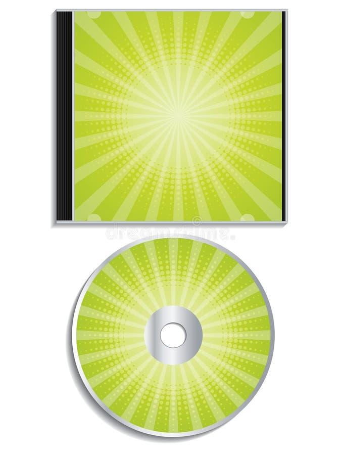 Projeto de intervalo mínimo verde cd e da tampa ilustração stock