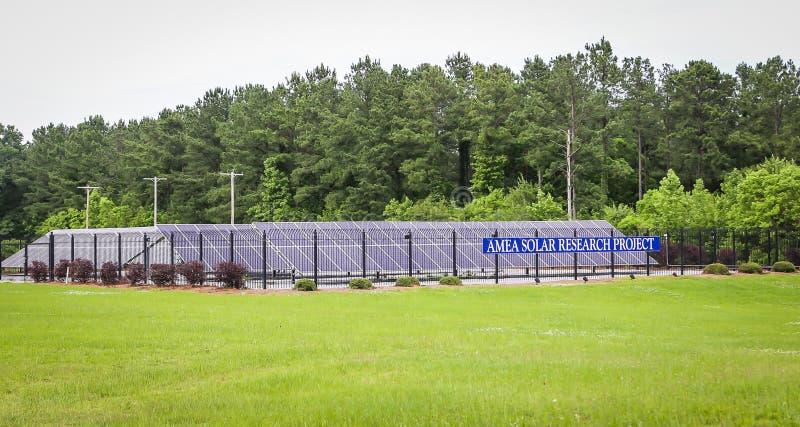 Projeto de investigação solar da autoridade elétrica municipal de Alabama foto de stock