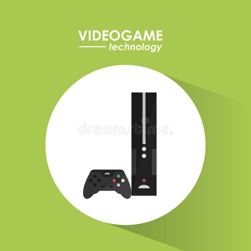 Projeto de jogo de vídeo ilustração royalty free