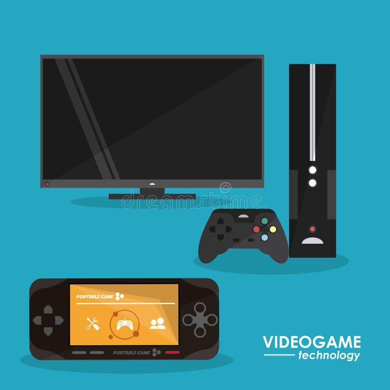 Projeto de jogo de vídeo ilustração do vetor