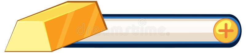 Projeto de jogo do objeto do ouro ilustração do vetor