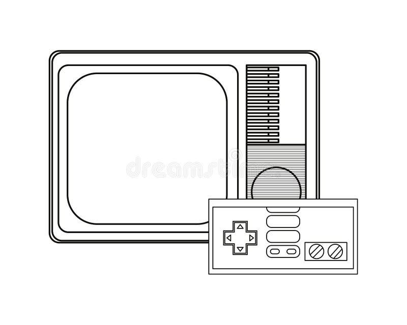 Projeto de jogos de vídeo ilustração royalty free