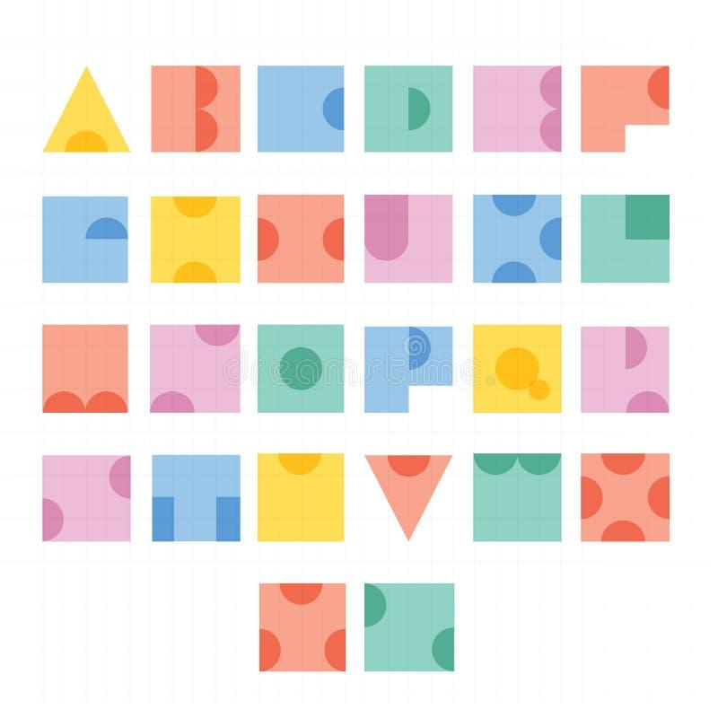 Projeto de letra do alfabeto da fonte ilustração do vetor