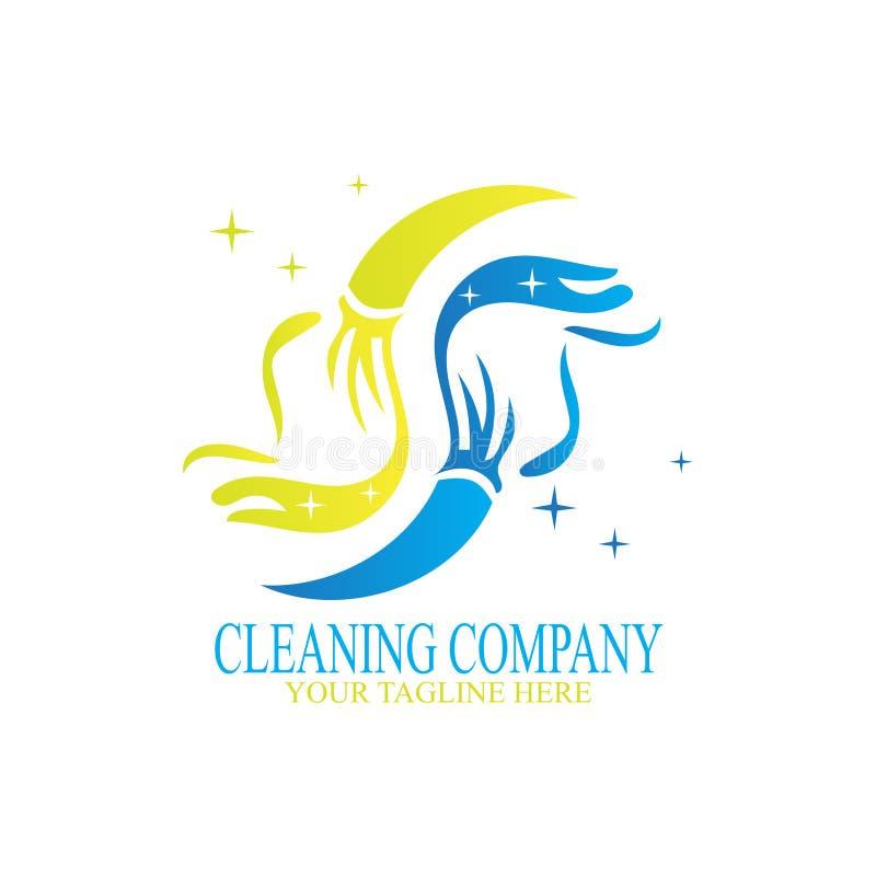 Projeto de limpeza do logotipo ilustração royalty free
