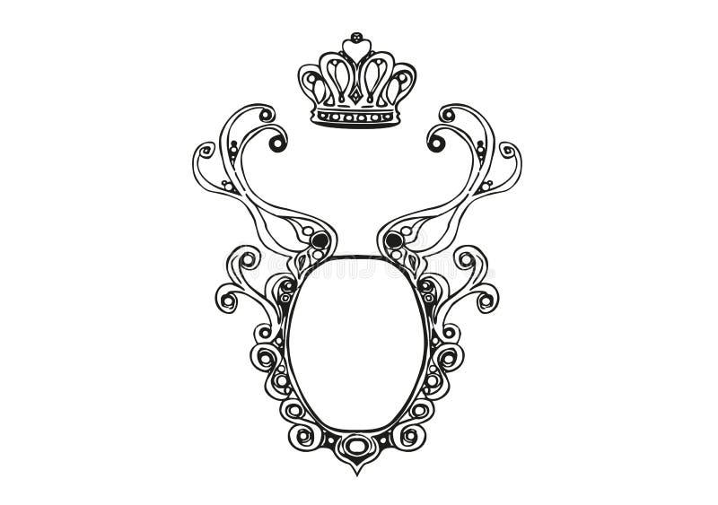 Projeto de Logo Illustration Vetora com coroa ilustração royalty free