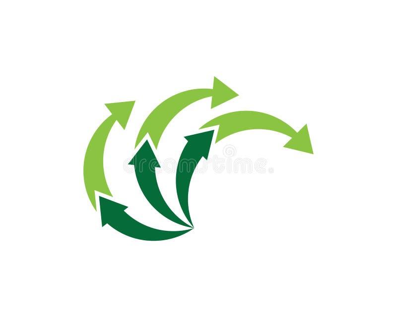 Projeto de Logo Template do ?cone da ilustra??o do vetor das setas ilustração stock