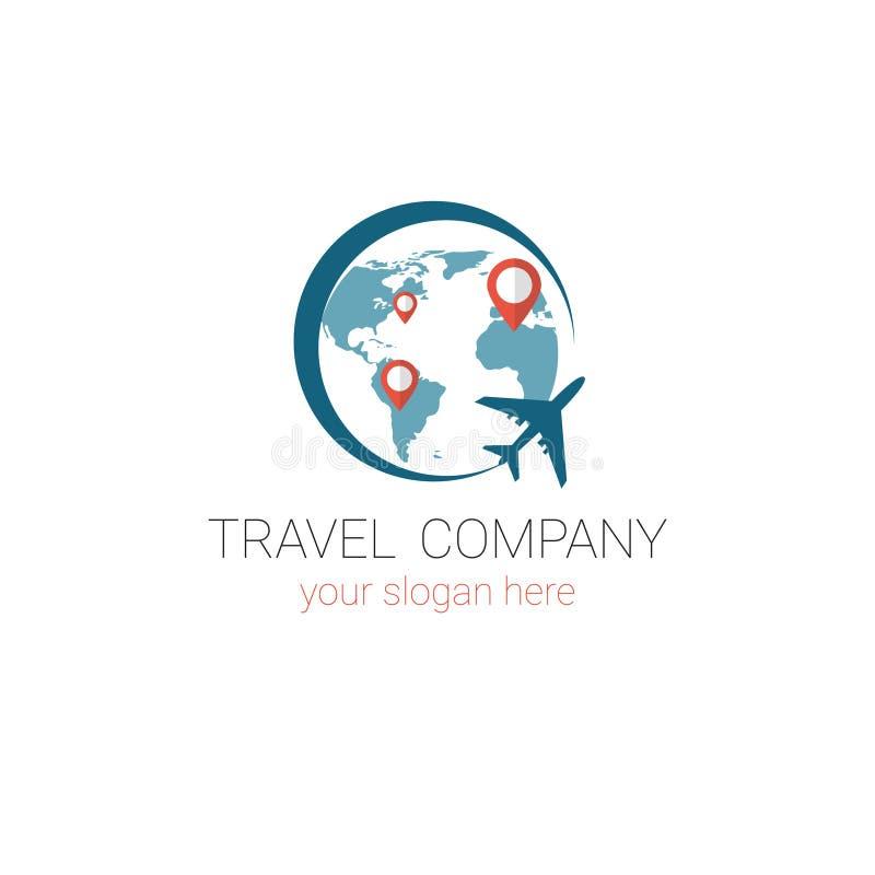 Projeto de Logo Template Tourism Company Banner da agência de viagens ilustração do vetor