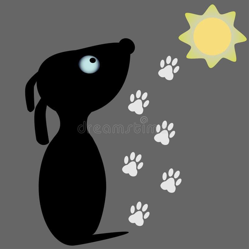 Projeto de logotipo para empresas relacionadas com cães, cães e cães ilustração do vetor