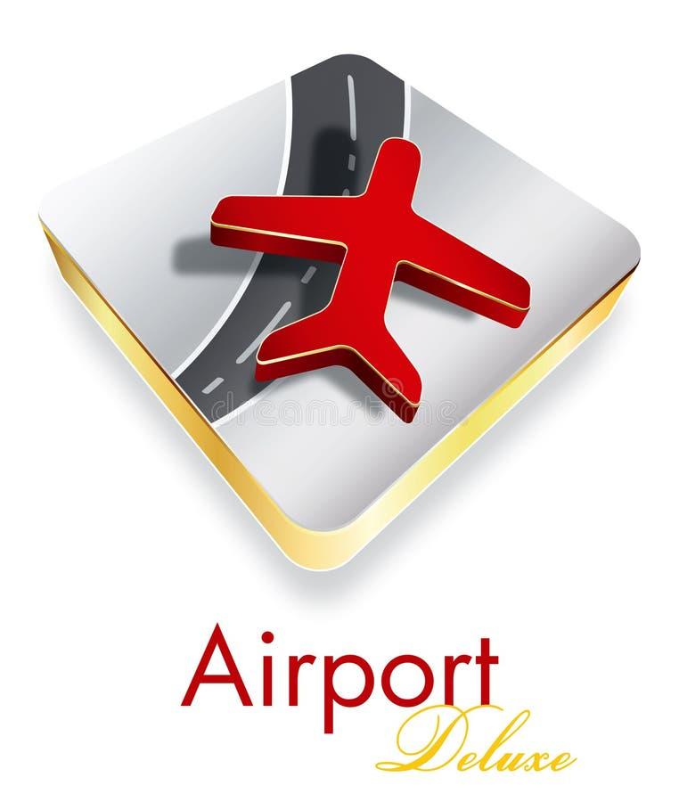 Projeto de luxe do logotipo da companhia do aeroporto ilustração royalty free