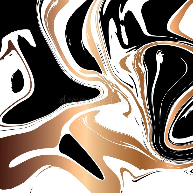 Projeto de mármore líquido da textura, superfície marmoreando colorida ilustração do vetor