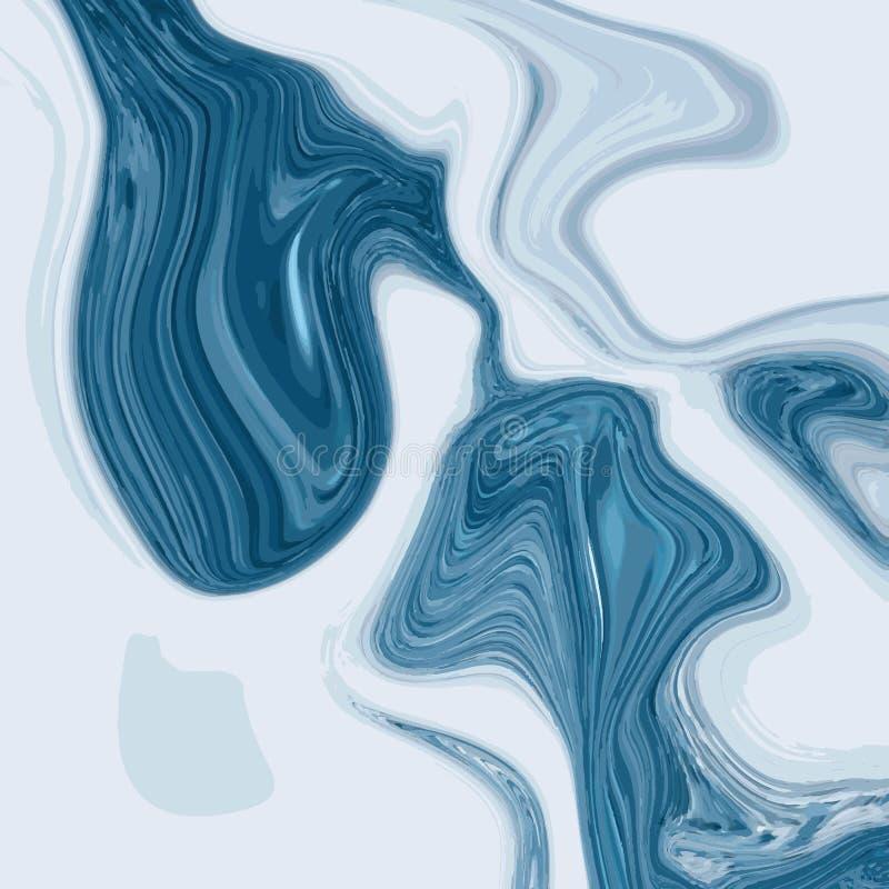 Projeto de mármore líquido da textura, superfície marmoreando colorida, projeto abstrato vibrante da pintura, vetor ilustração stock