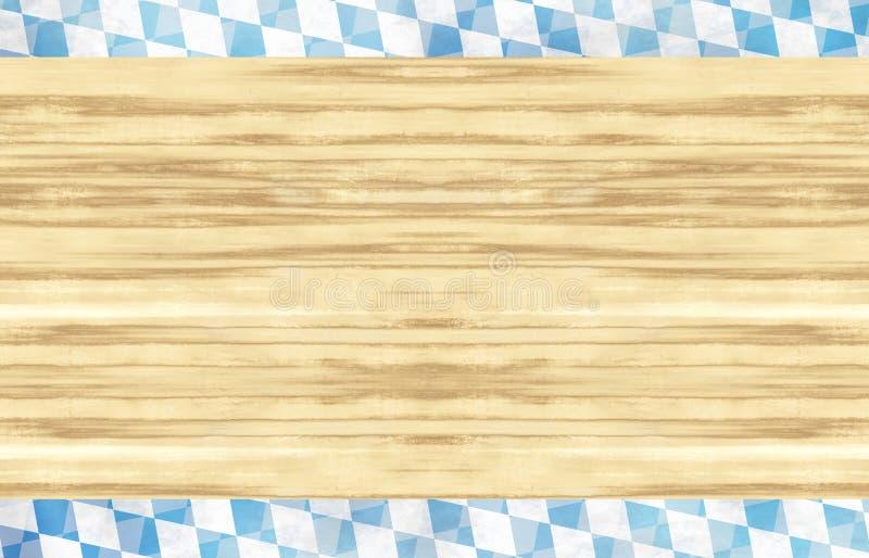 Projeto de madeira da bandeira de Baviera Oktoberfest fotos de stock