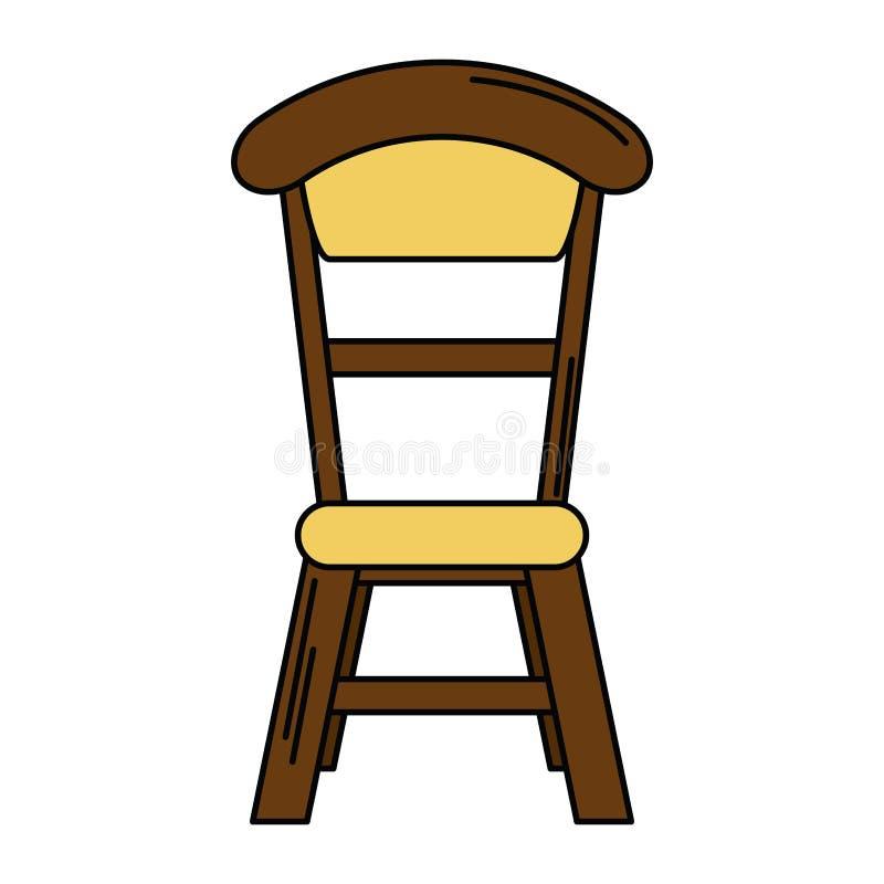 Projeto de madeira do vintage da cadeira ilustração royalty free