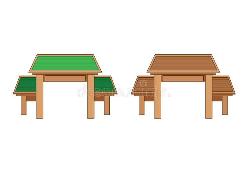 Projeto de madeira Tailândia e Ásia da porta de entrada ilustração royalty free