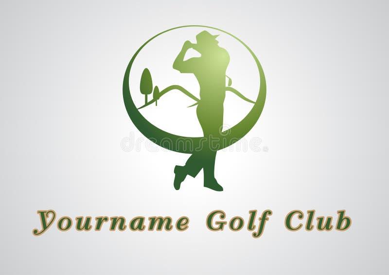 Projeto de marcagem com ferro quente luxuoso do logotipo do negócio do clube de golfe ilustração royalty free