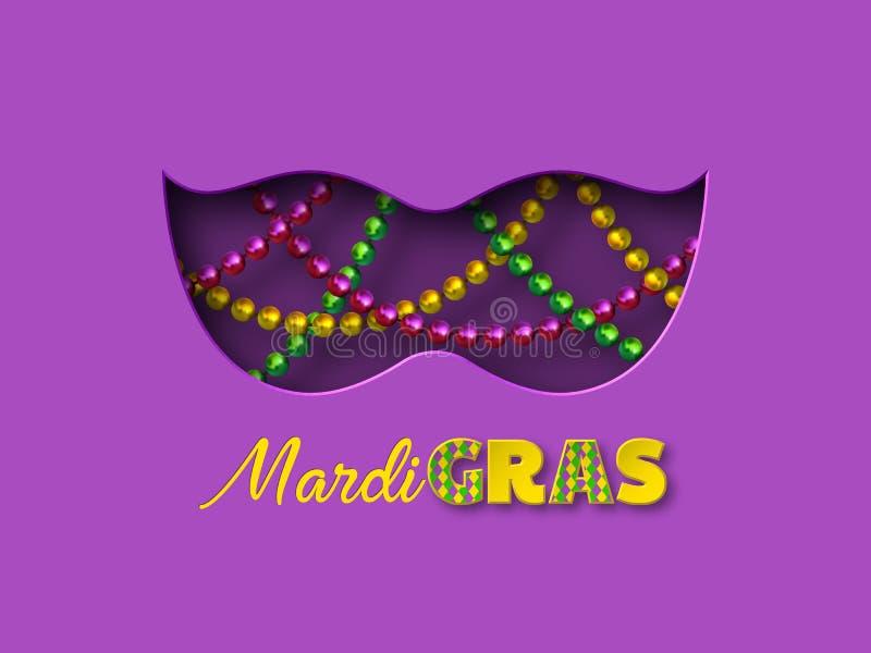 Projeto de Mardi Gras Carnival ilustração do vetor