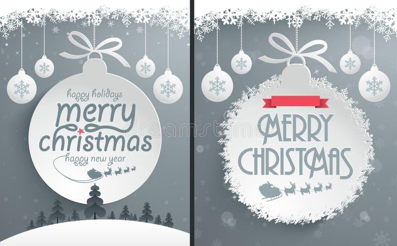 Projeto de mensagem do Natal ilustração royalty free
