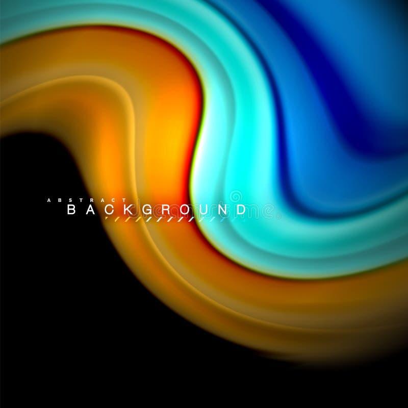 Projeto de mistura fluido do fundo do sumário da onda do vetor das cores Ondas coloridas da malha ilustração royalty free