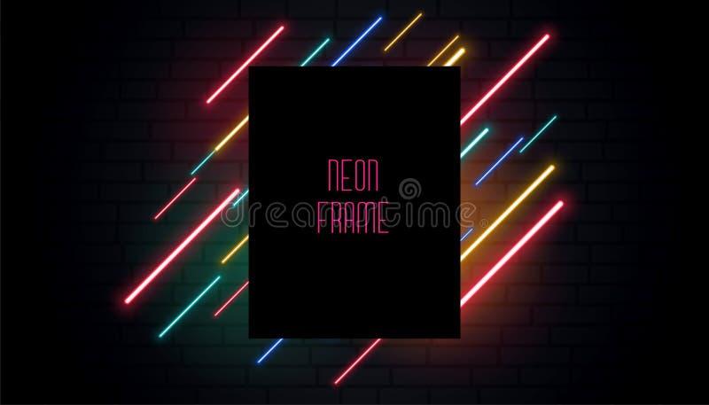 Projeto de néon da bandeira do signage do clube ilustração royalty free