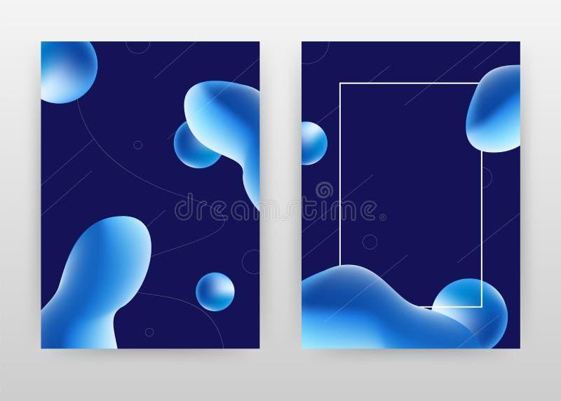 Projeto de negócio líquido azul geométrico dos elementos 3D para o informe anual, folheto, inseto, cartaz Vetor abstrato geom?tri ilustração royalty free