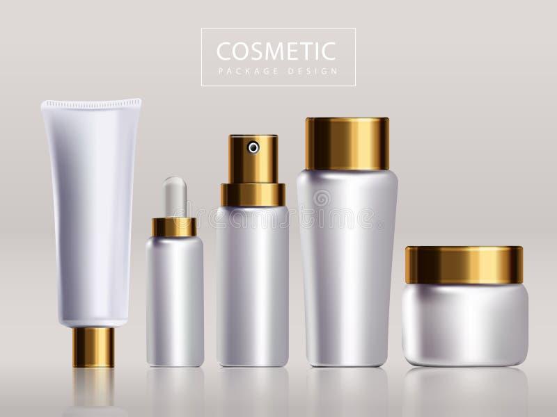 Projeto de pacote cosmético vazio ilustração royalty free