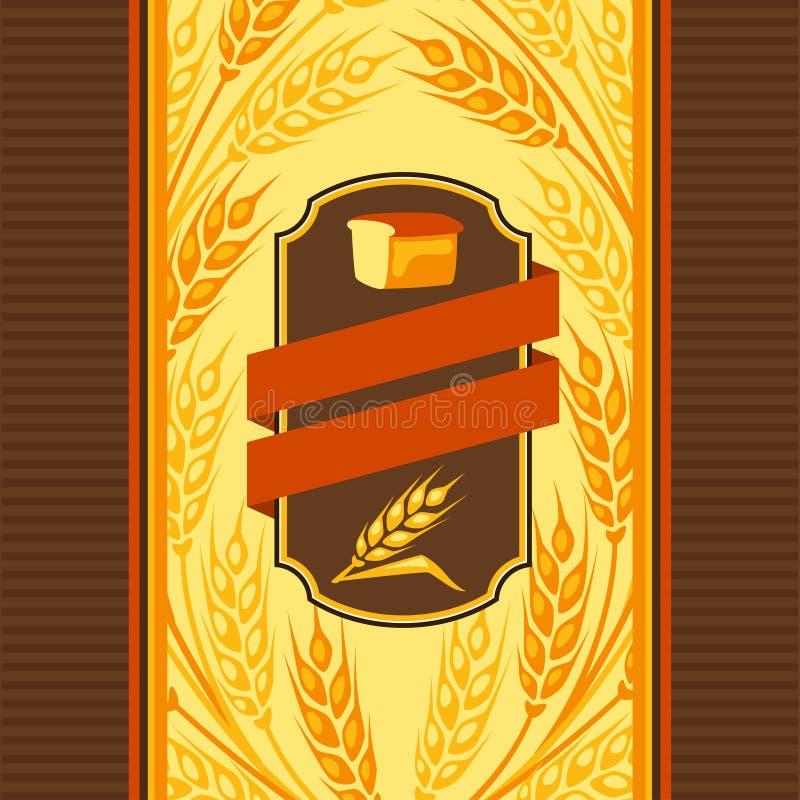 Projeto de pacote para o pão ilustração do vetor