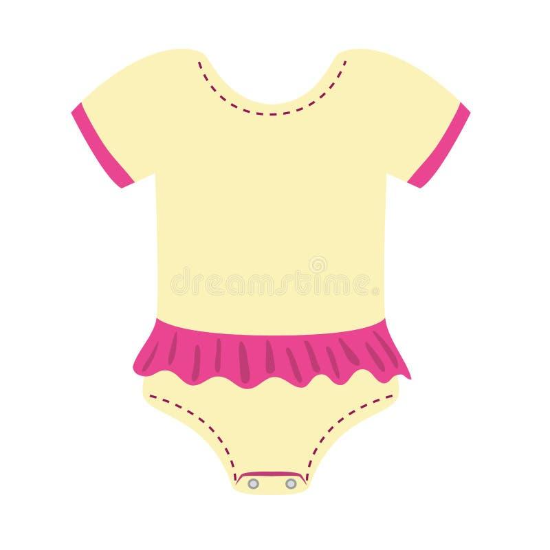 Projeto de pano do bebê Ícone de Pijama Gráfico de vetor ilustração do vetor
