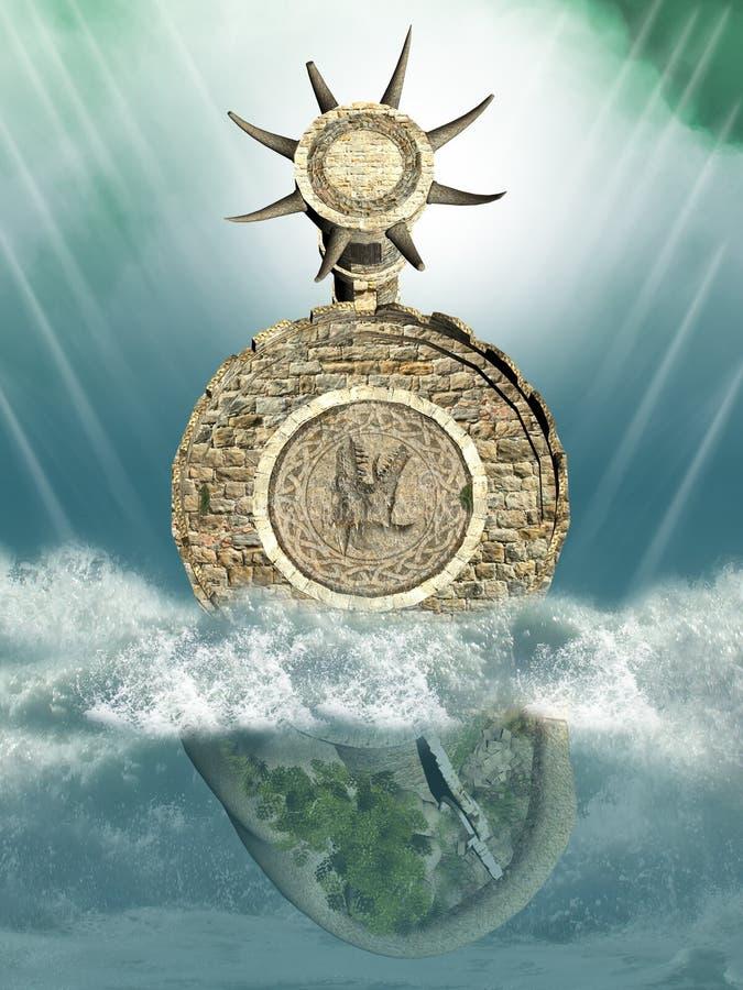 Projeto de pedra abstrato ilustração royalty free