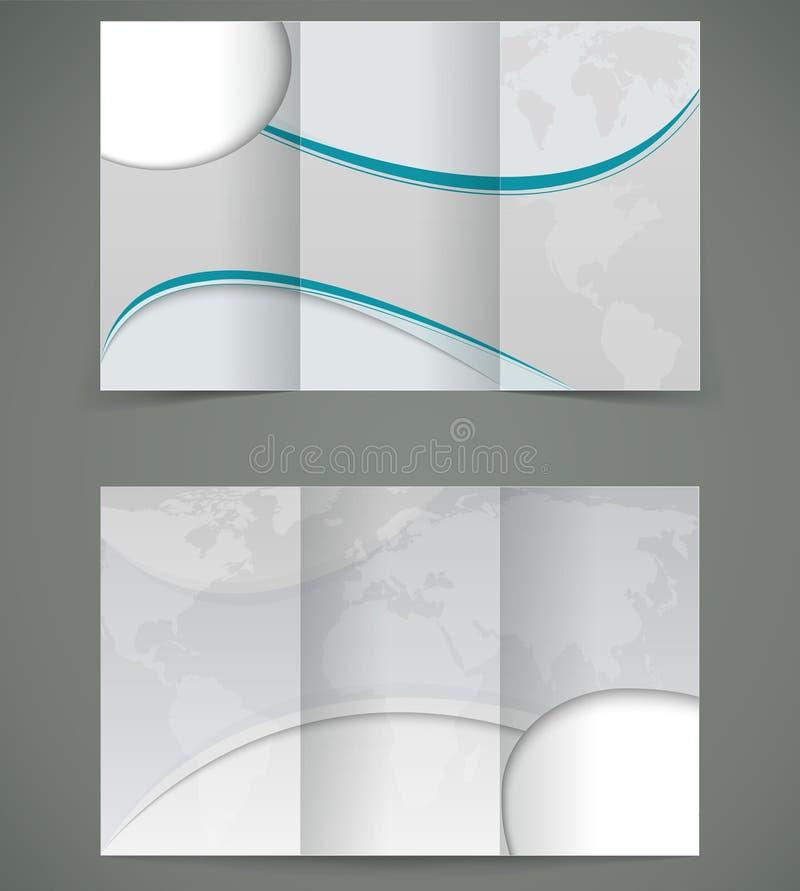 Projeto de prata da disposição do folheto do vetor, negócio thr ilustração stock