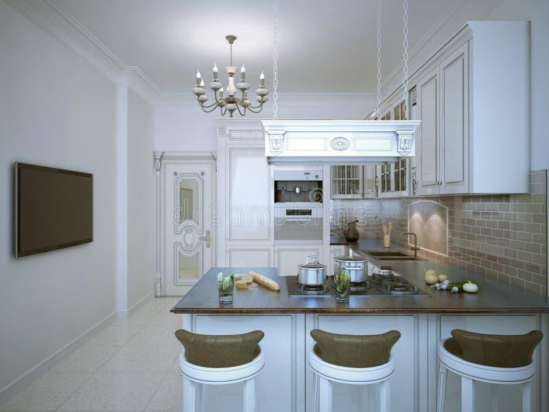 Projeto de Provence da cozinha ilustração do vetor