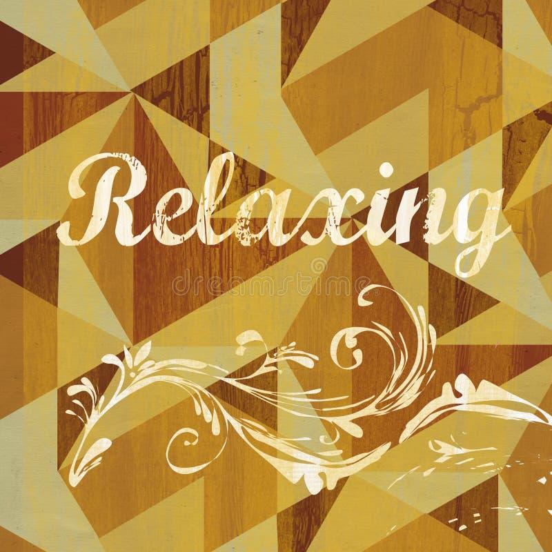 Projeto de relaxamento abstrato do Grunge do sentimento fotografia de stock royalty free