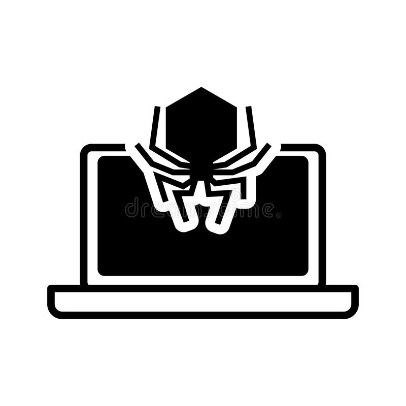 Projeto de sistema da segurança do portátil ilustração do vetor