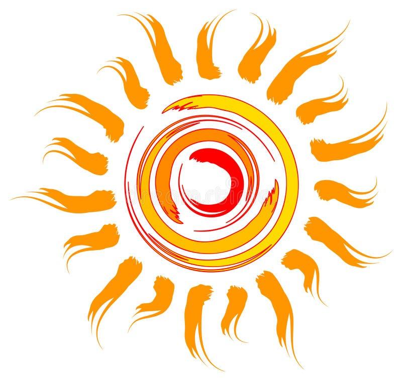 Projeto de Sun ilustração stock