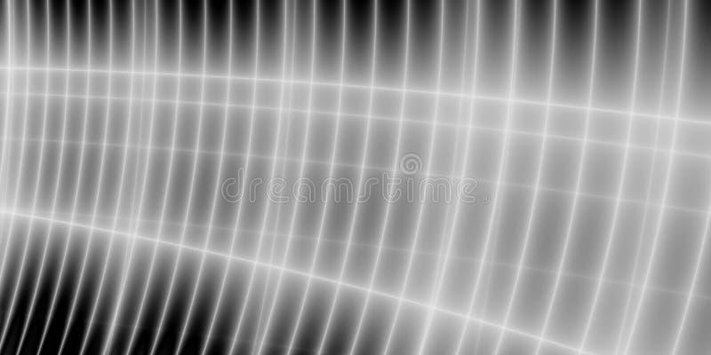 Projeto de tela panorâmico abstrato cinzento do poder ilustração stock