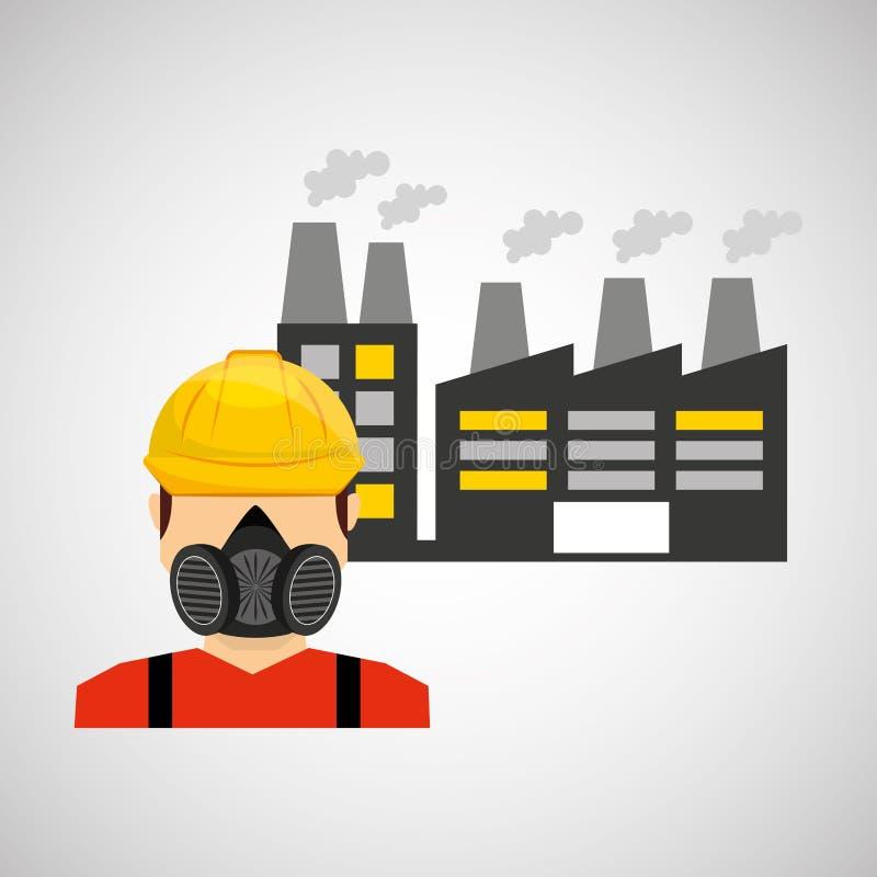 projeto de trabalho industrial ilustração stock