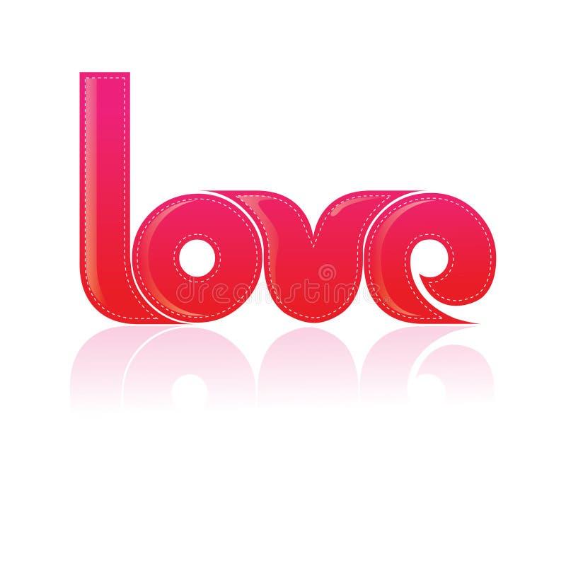 Projeto de Typography/T-shirt o amor da palavra ilustração royalty free