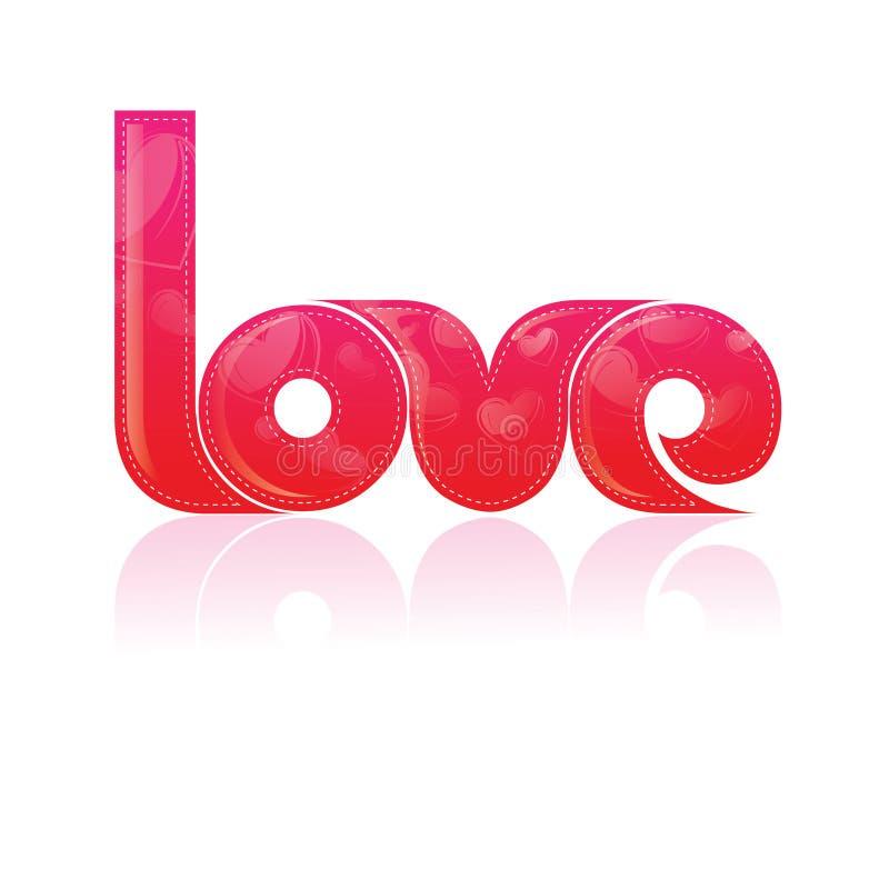 Projeto de Typography/T-Shirt o amor da palavra com Patt ilustração stock
