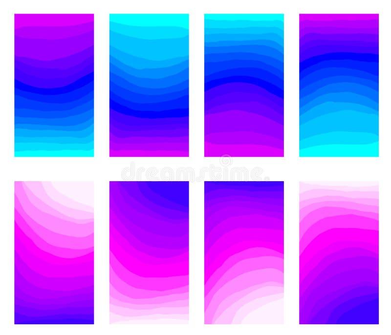 Projeto de UI UX, fundo colorido da mistura do conceito do sumário com uma linha vibrante inclinação da curva da cor foto de stock