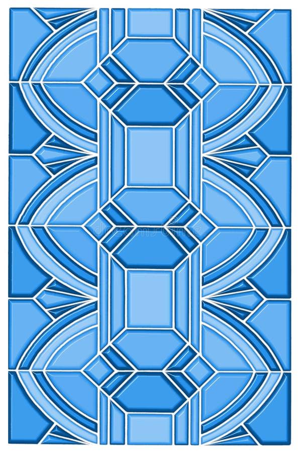 Projeto de vidro da mancha do art deco ilustração stock