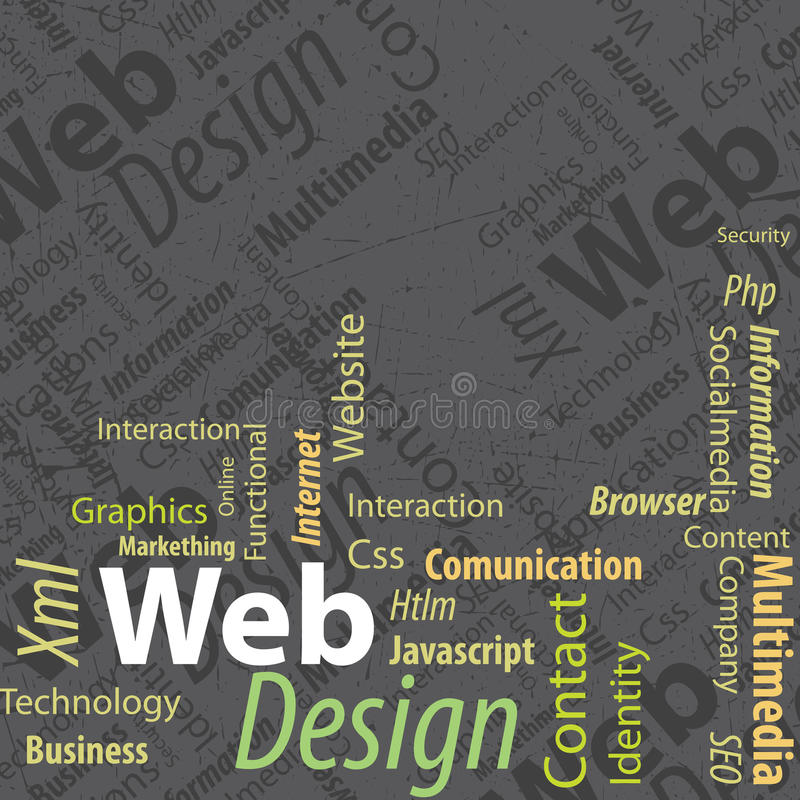 Projeto de Web do Typography ilustração stock
