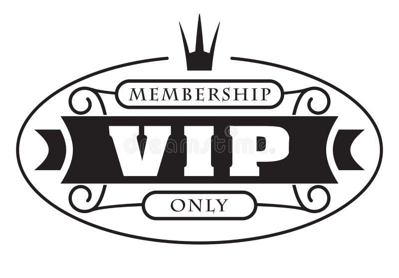 Projeto decorado rico preto do VIP com coroa em um fundo branco ilustração royalty free