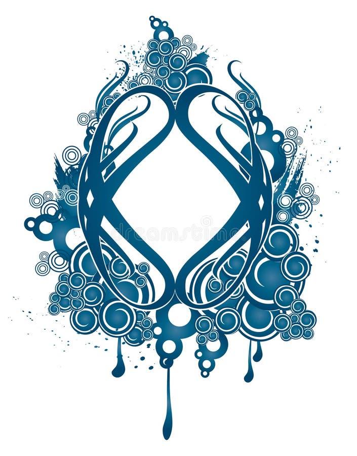 Projeto decorativo azul ilustração royalty free