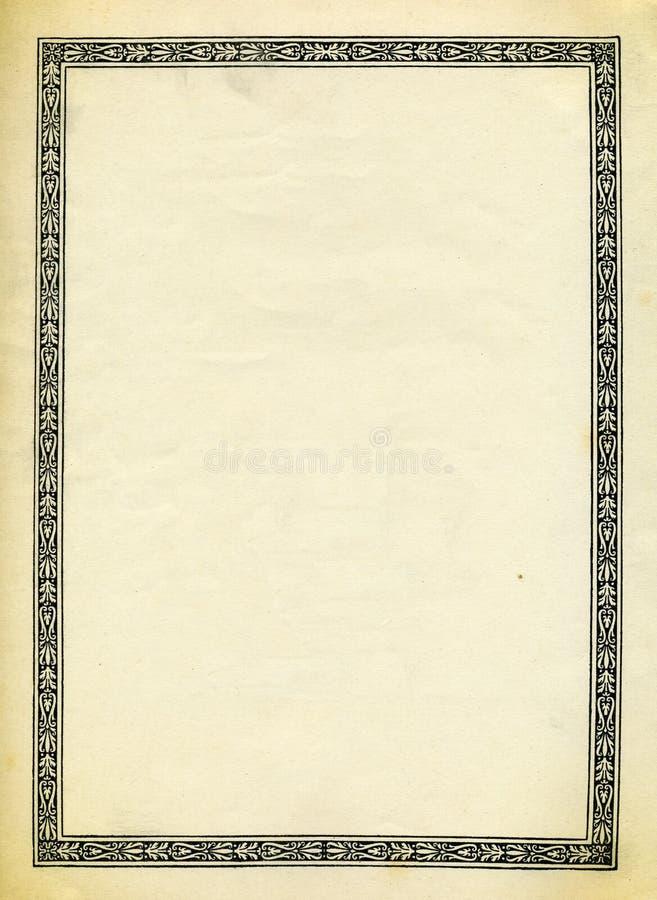 Projeto decorativo da beira do vintage ilustração stock