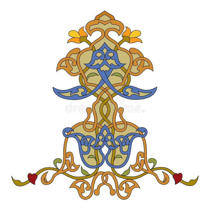 Projeto decorativo decorativo da ilustração do arabesque árabe ilustração stock