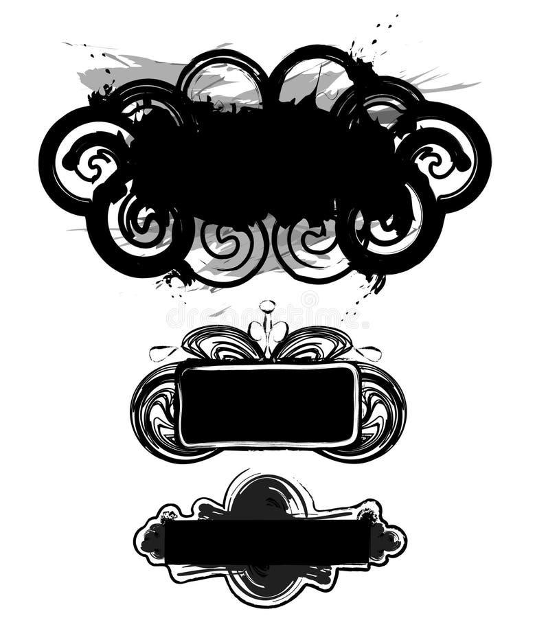 Projeto decorativo de Grunge ilustração royalty free